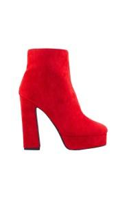 Γυναικεία μποτάκια με φιάπα Κόκκινο