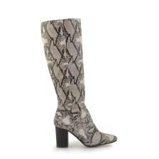 Γυναικείες μπότες με animal print Μαύρο