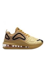 Γυναικεία sneakers με αερόσολα και ανάγλυφα σχέδια Χρυσό