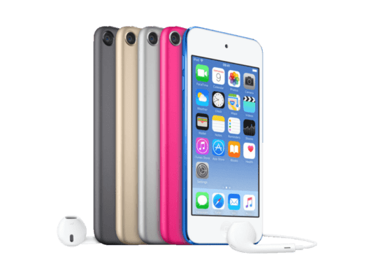 IPod touch is available in many bright colors.