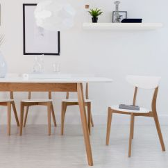 Oak And White Dining Chairs Leather Desk Chair With No Wheels Unique Modern Interiors Danetti