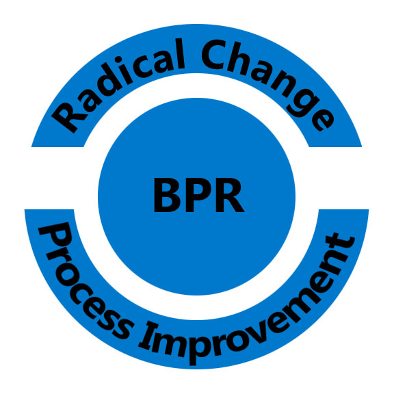 How the business process to be improved by BPR ?
