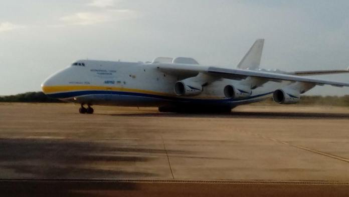 Antonov An-225, World's largest cargo aircraft at Mattala