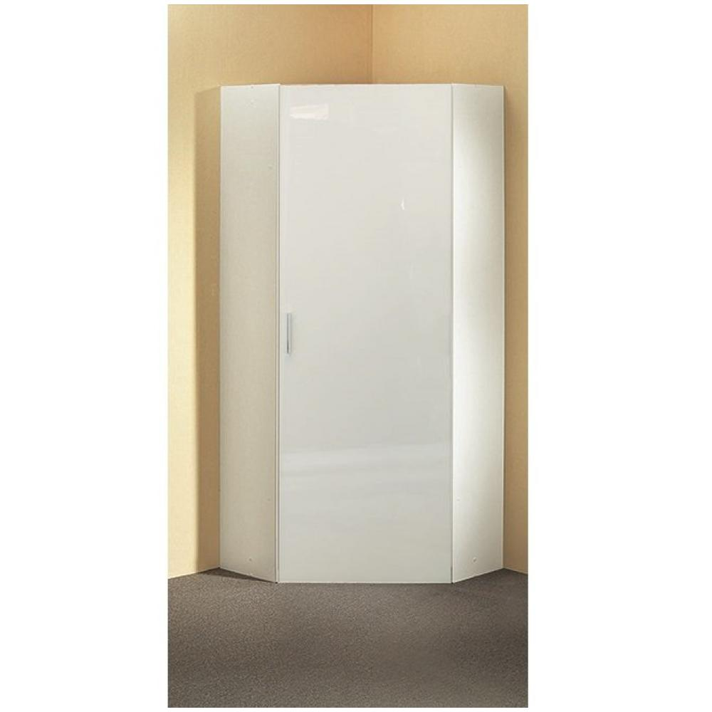 armoire dressing d angle malta 1 porte laquee blanc casse 80 x 80 cm