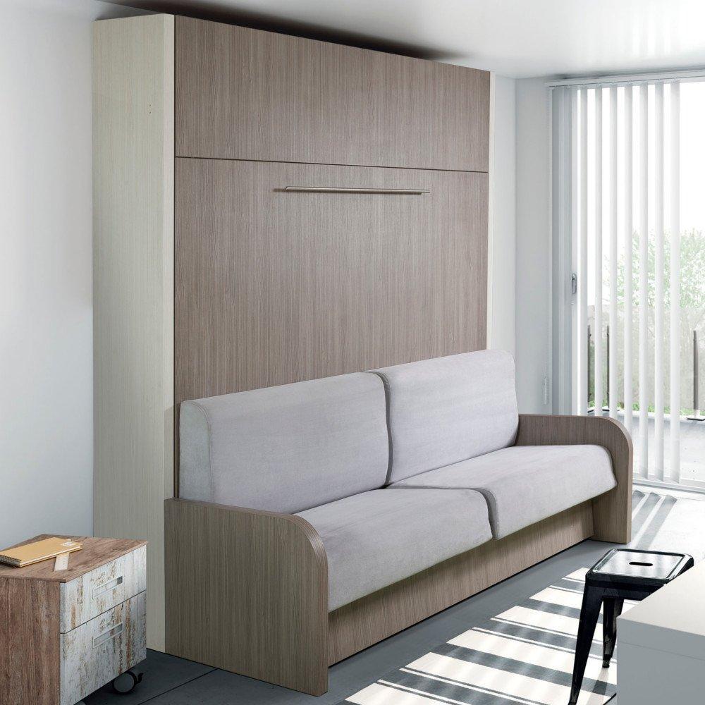 armoire lit escamotable avec canape