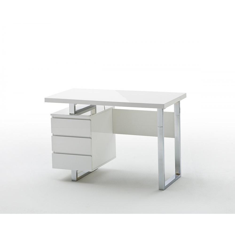 bureau altona laque blanc brillant