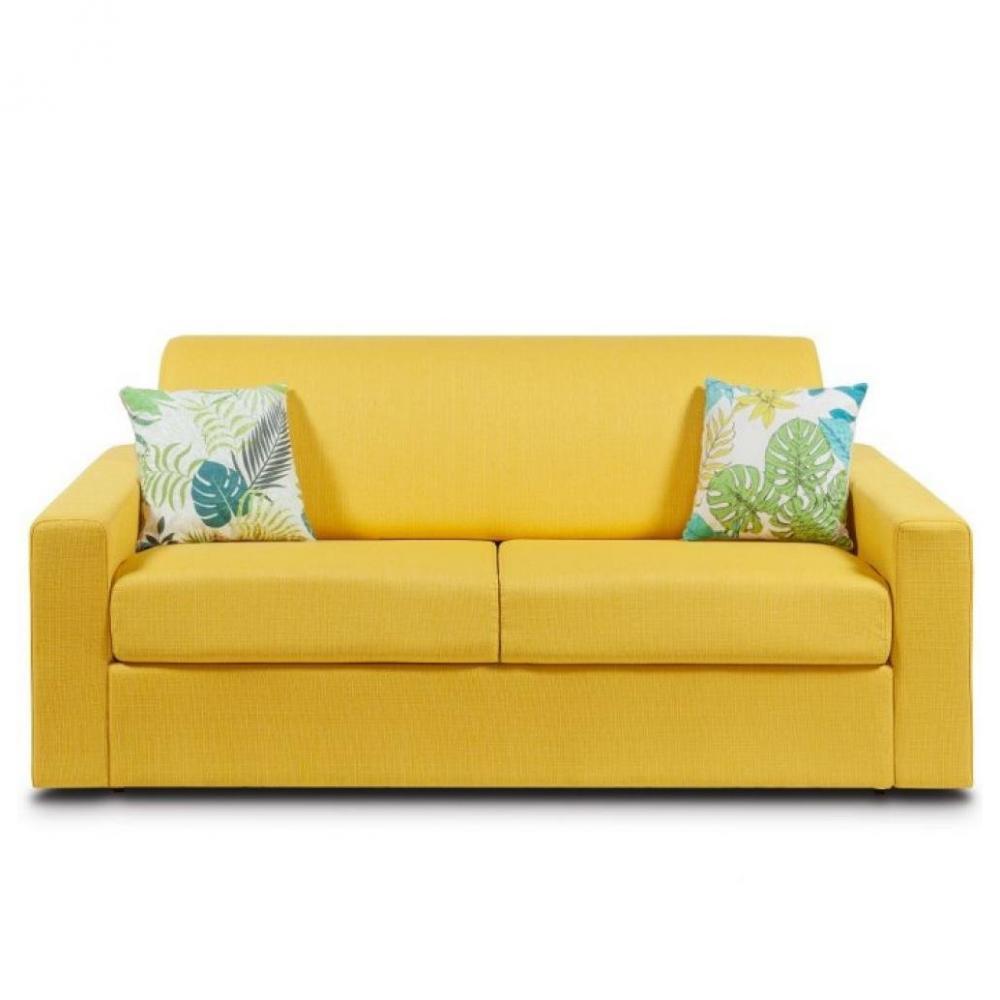 matelas 16 cm tissu tweed jaune