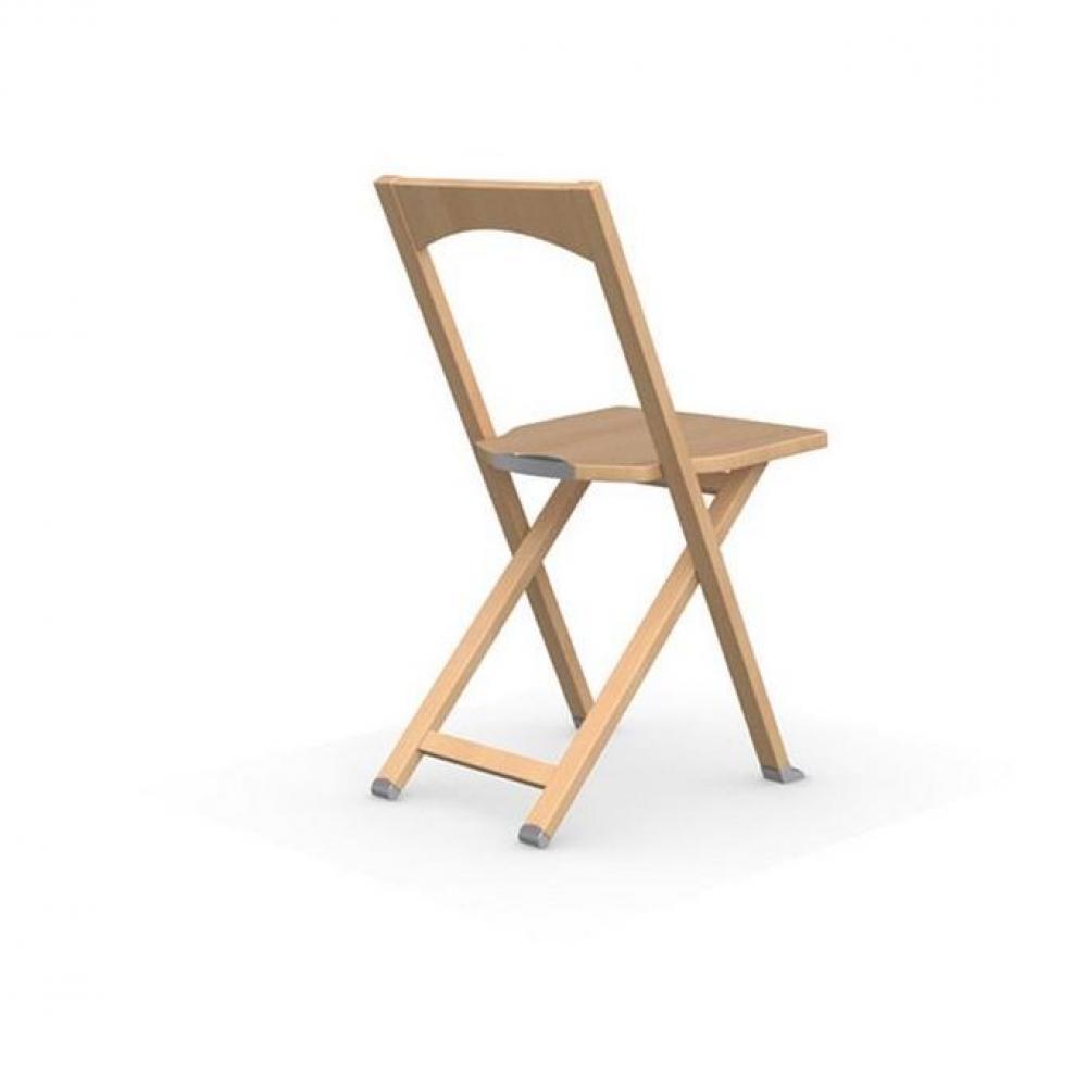 chaise pliante olivia en hetre naturel