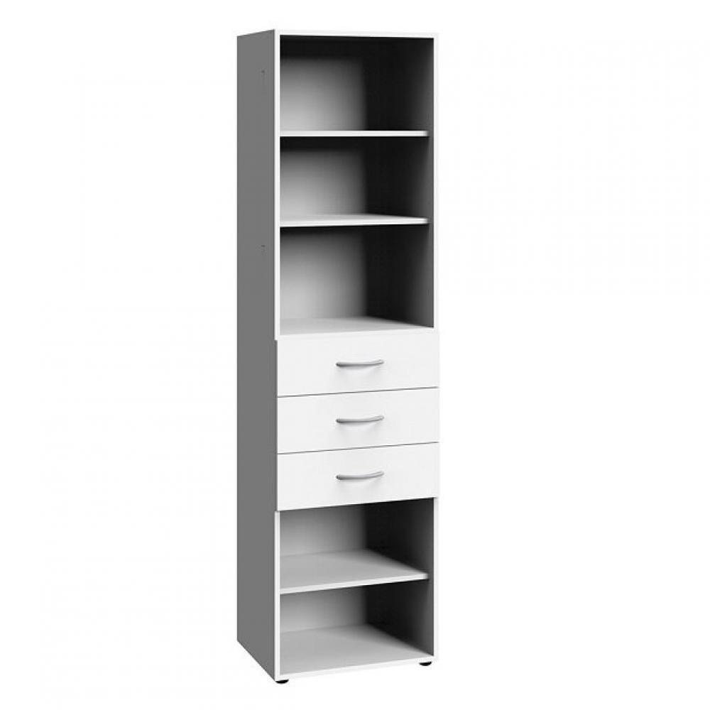colonne de rangement lund 3 tiroirs blanc mat 30 x 40 cm profondeur