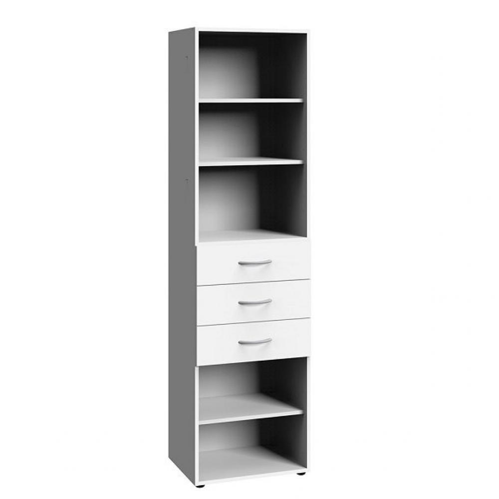 colonne de rangement lund 3 tiroirs blanc mat 45 x 40 cm profondeur