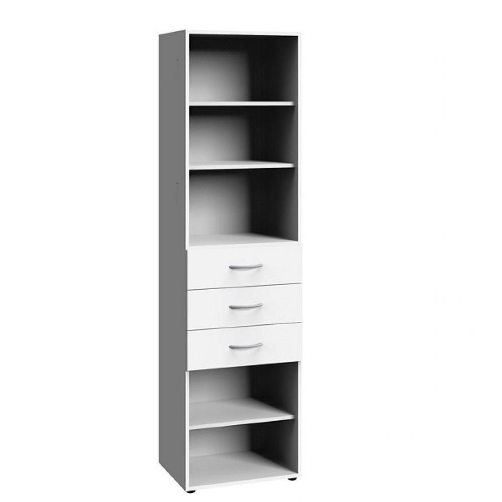 colonne de rangement lund 3 tiroirs blanc mat 50 x 40 cm profondeur