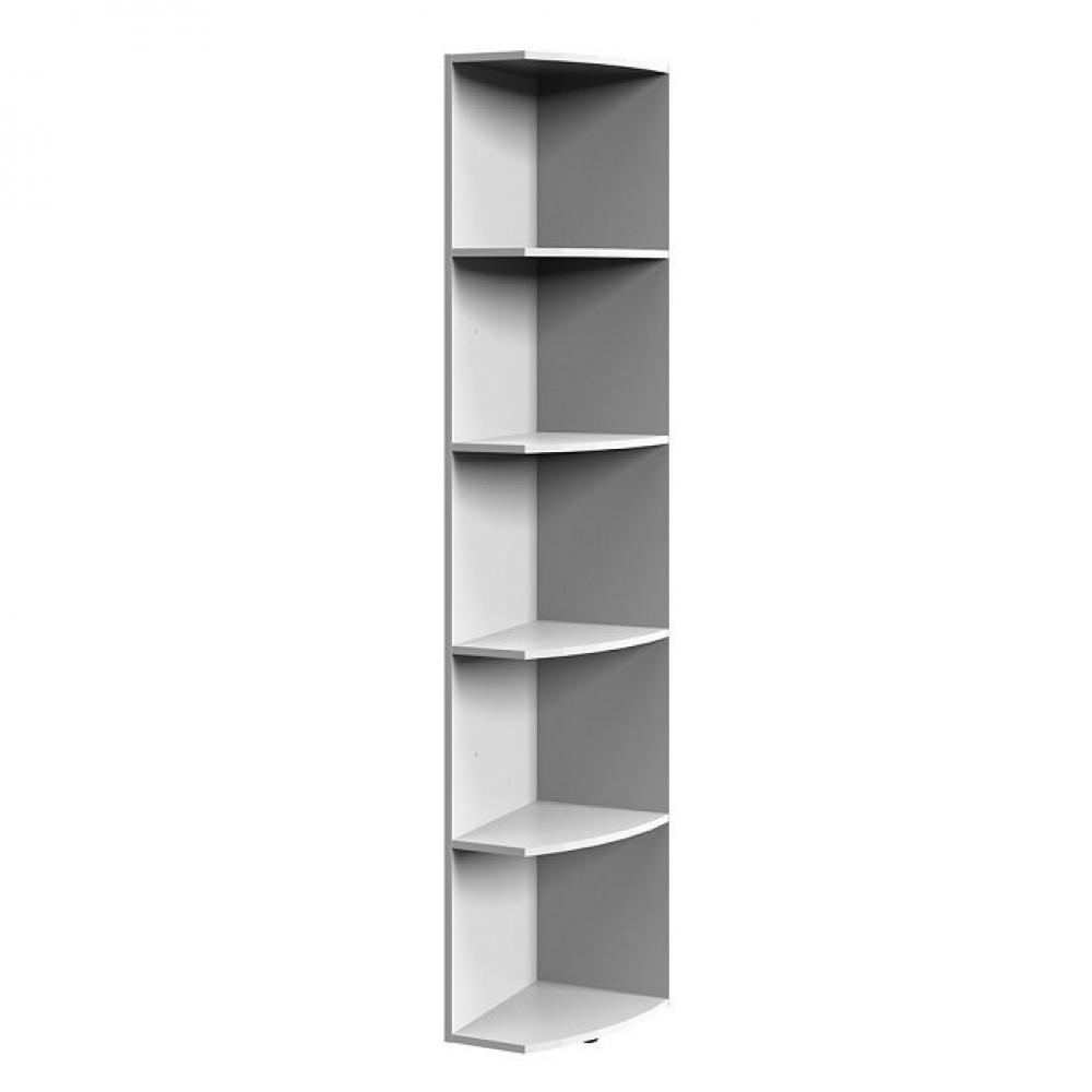 colonne etageres terminal lund blanc mat largeur 30 cm