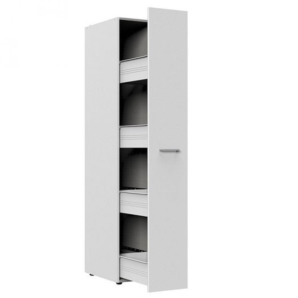 colonne de rangement coulissante lund blanc mat 30 x 54 cm profondeur