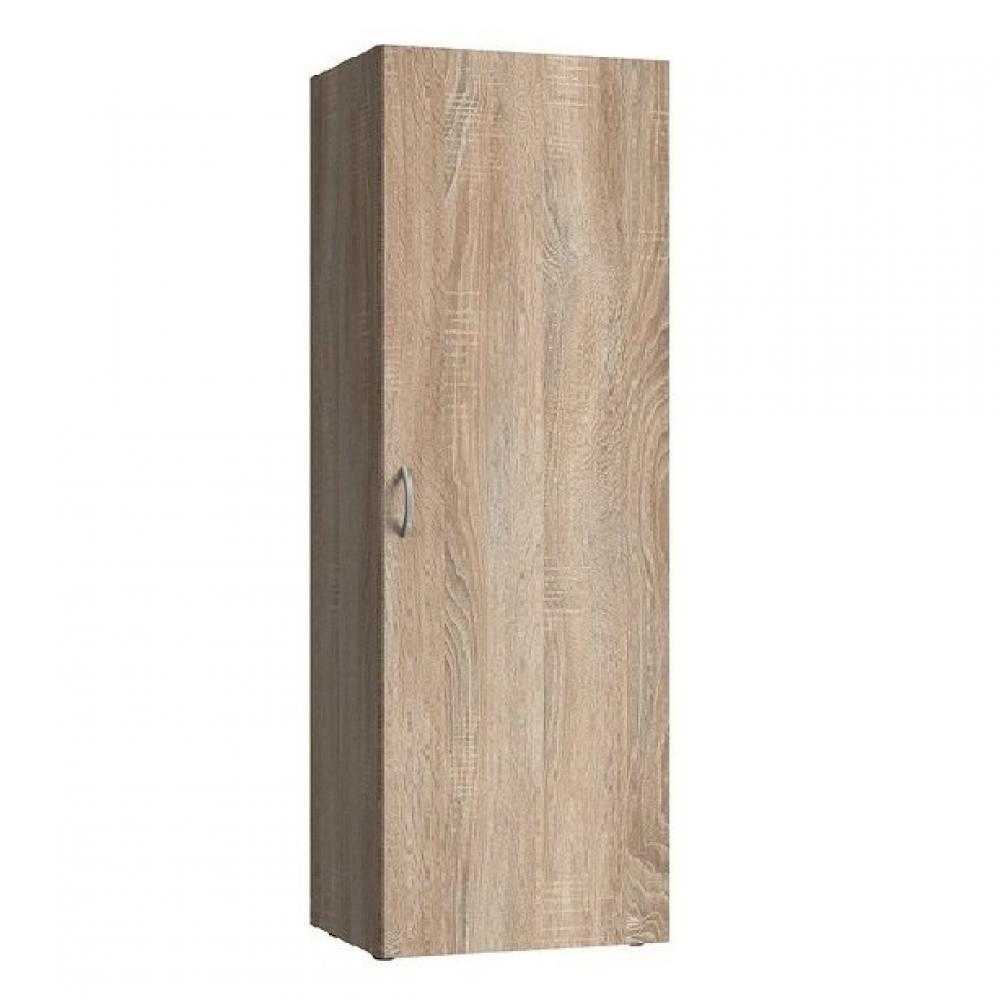 colonne de rangement lund 1 porte chene naturel largeur 50 x 40 cm profondeur