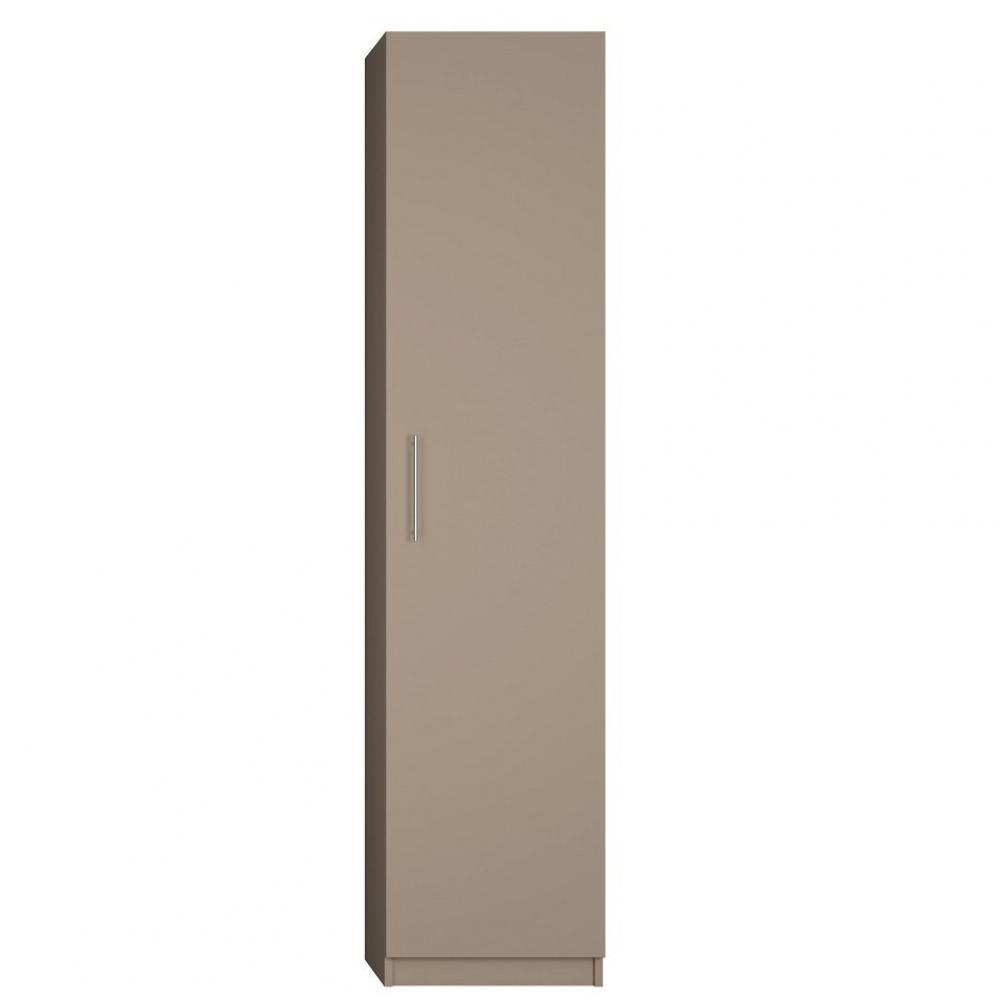colonne de rangement avec grande porte coloris taupe mat largeur 50 cm