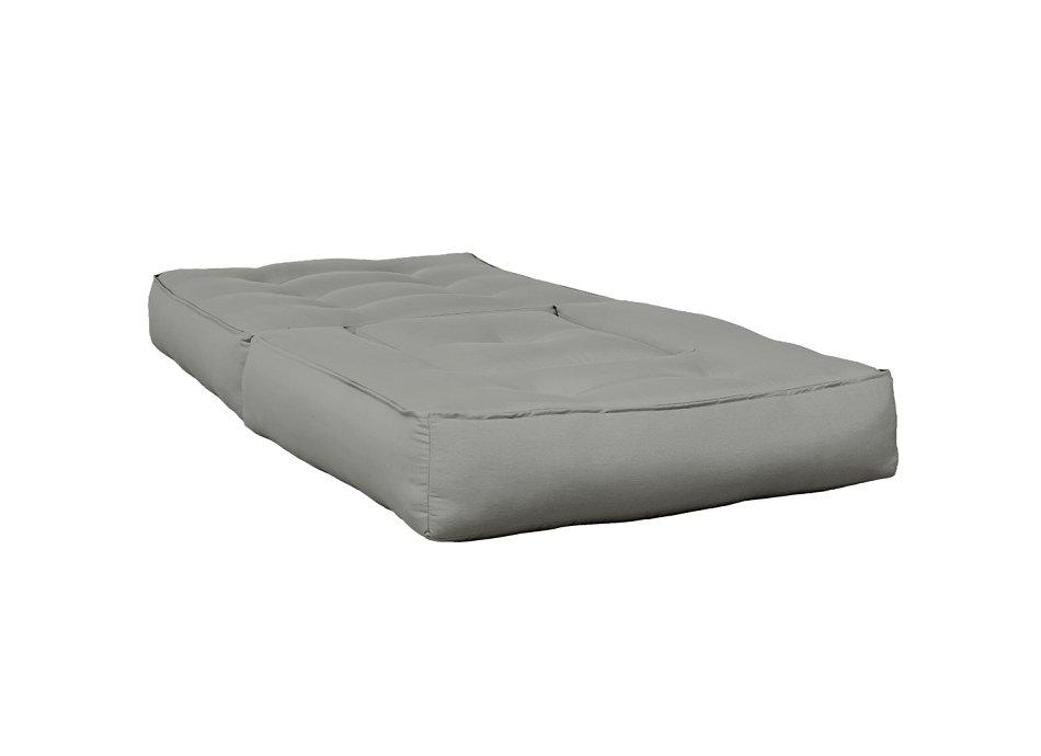 coloris gris couchage 90 x 190 cm