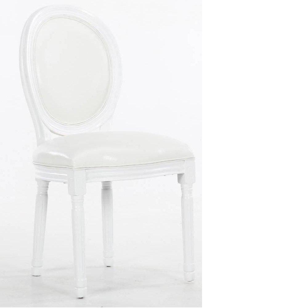 lot de 6 chaises medaillon versailles style louis xvi polyurethane blanc