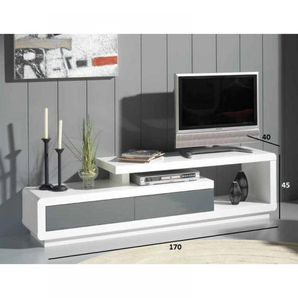 meuble tv seville blanc