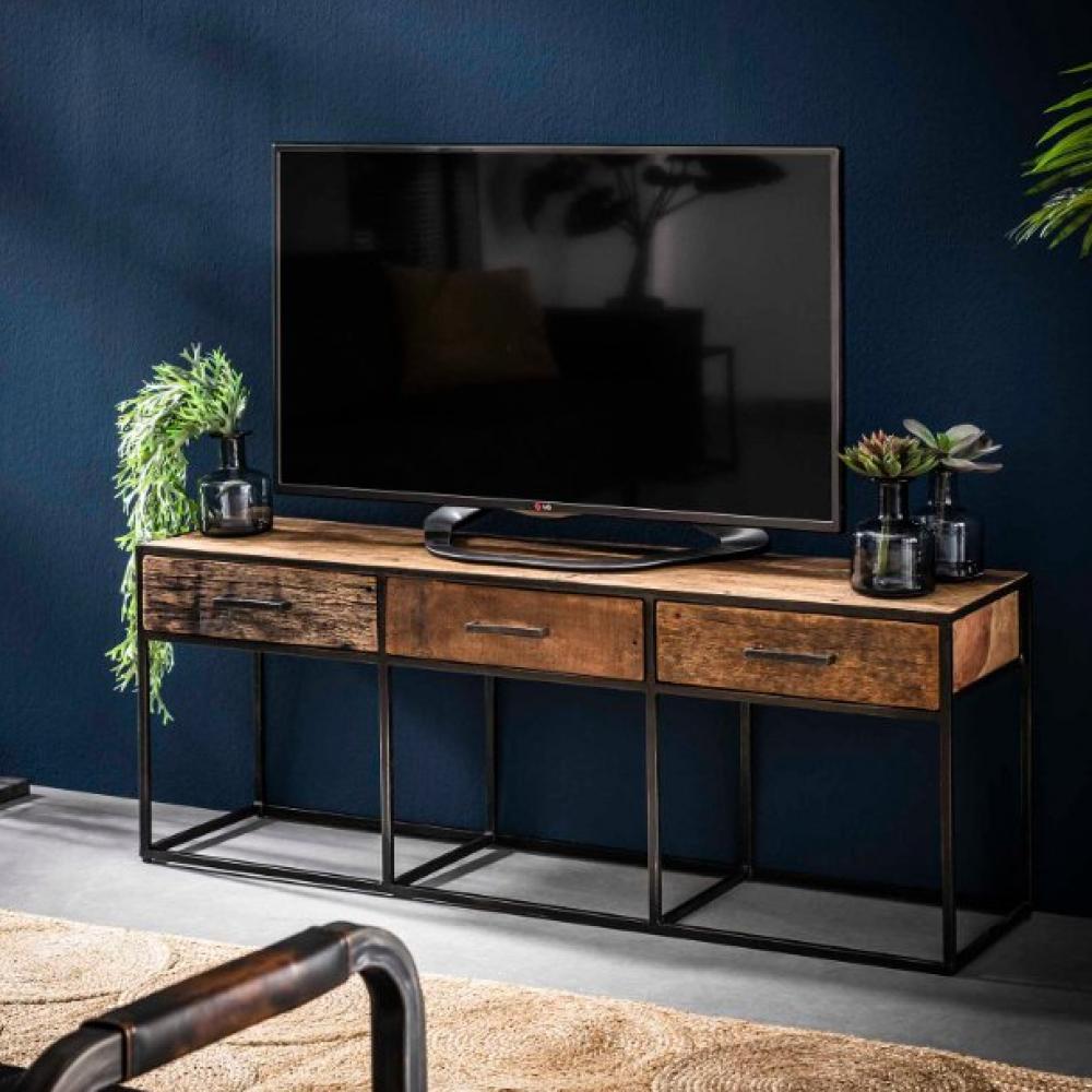 meuble tv float vieux bois 3 tiroirs