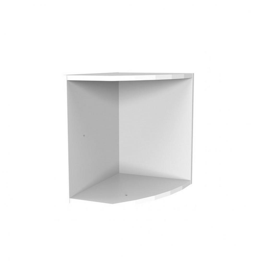 surmeuble pour terminal etageres lund blanc mat largeur 30 cm