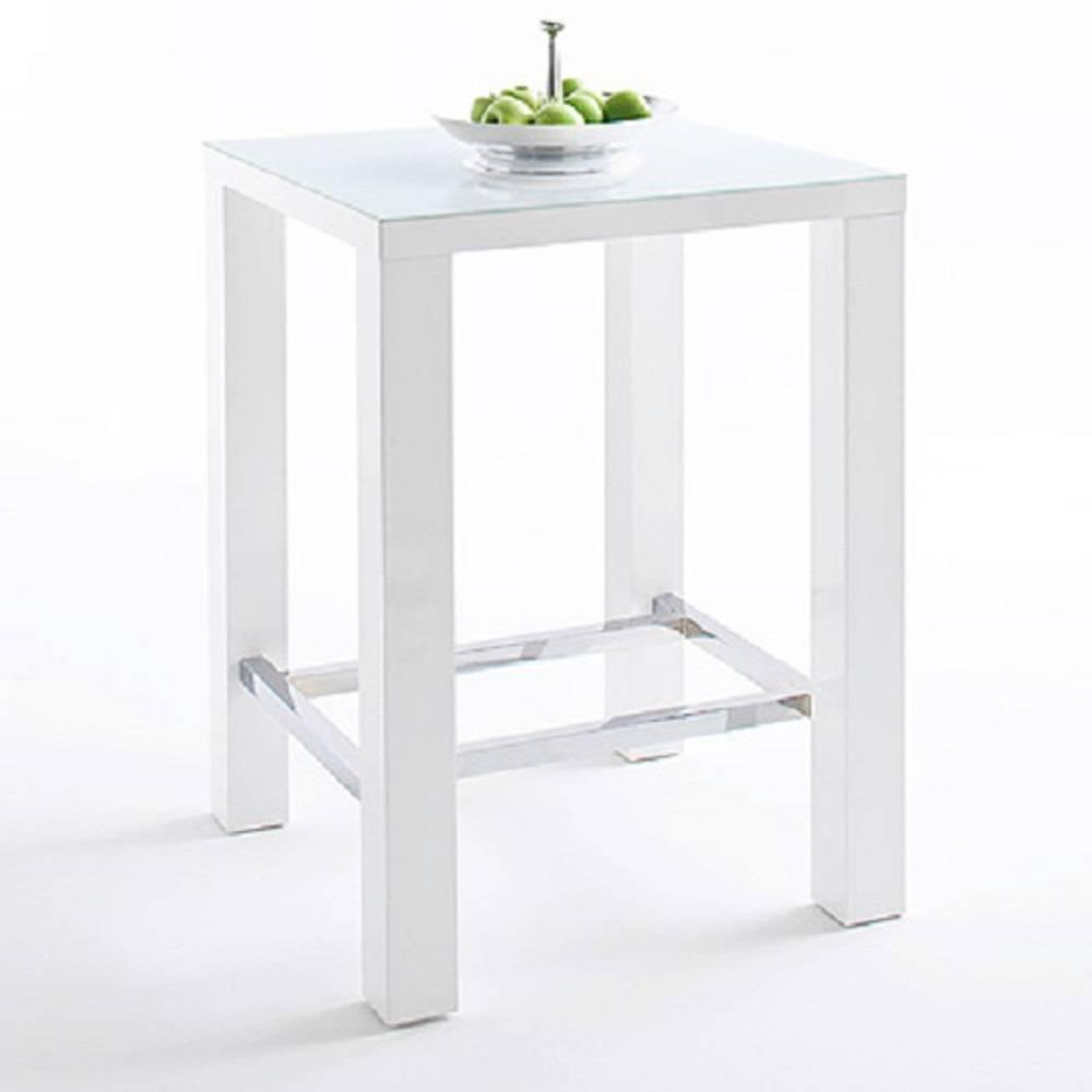 table bar blanche laquee chaise