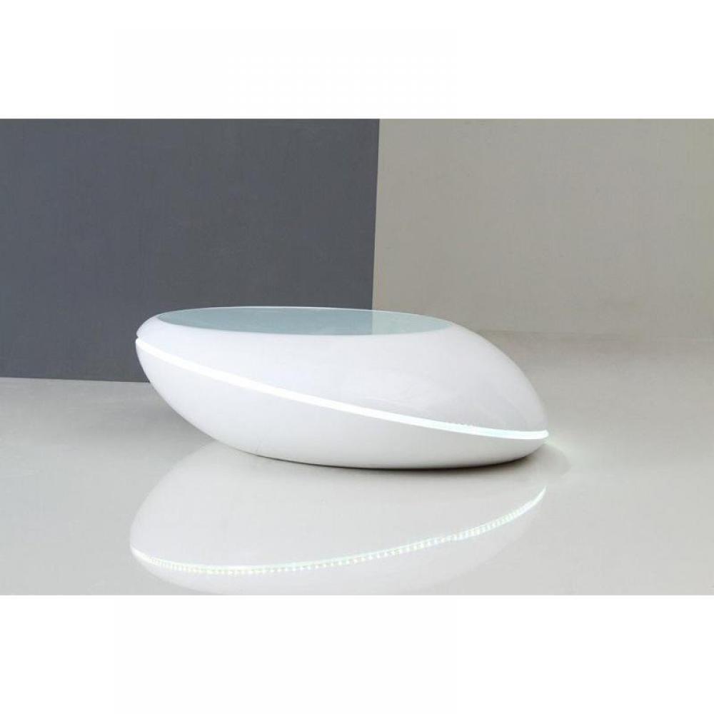 galet table basse design blanc