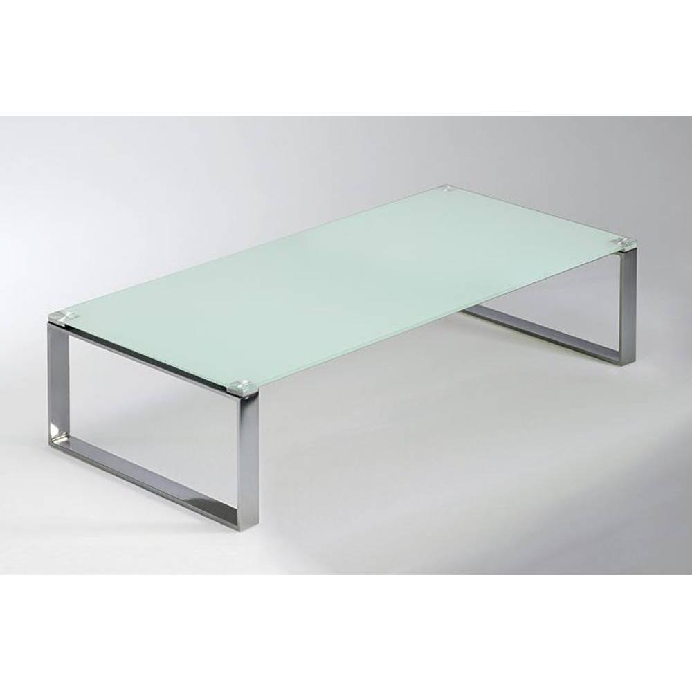 table basse miami en verre blanc