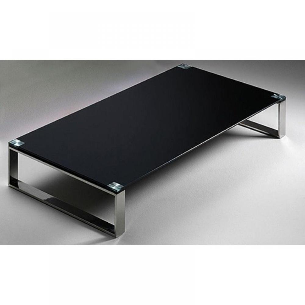 table basse miami en verre noir