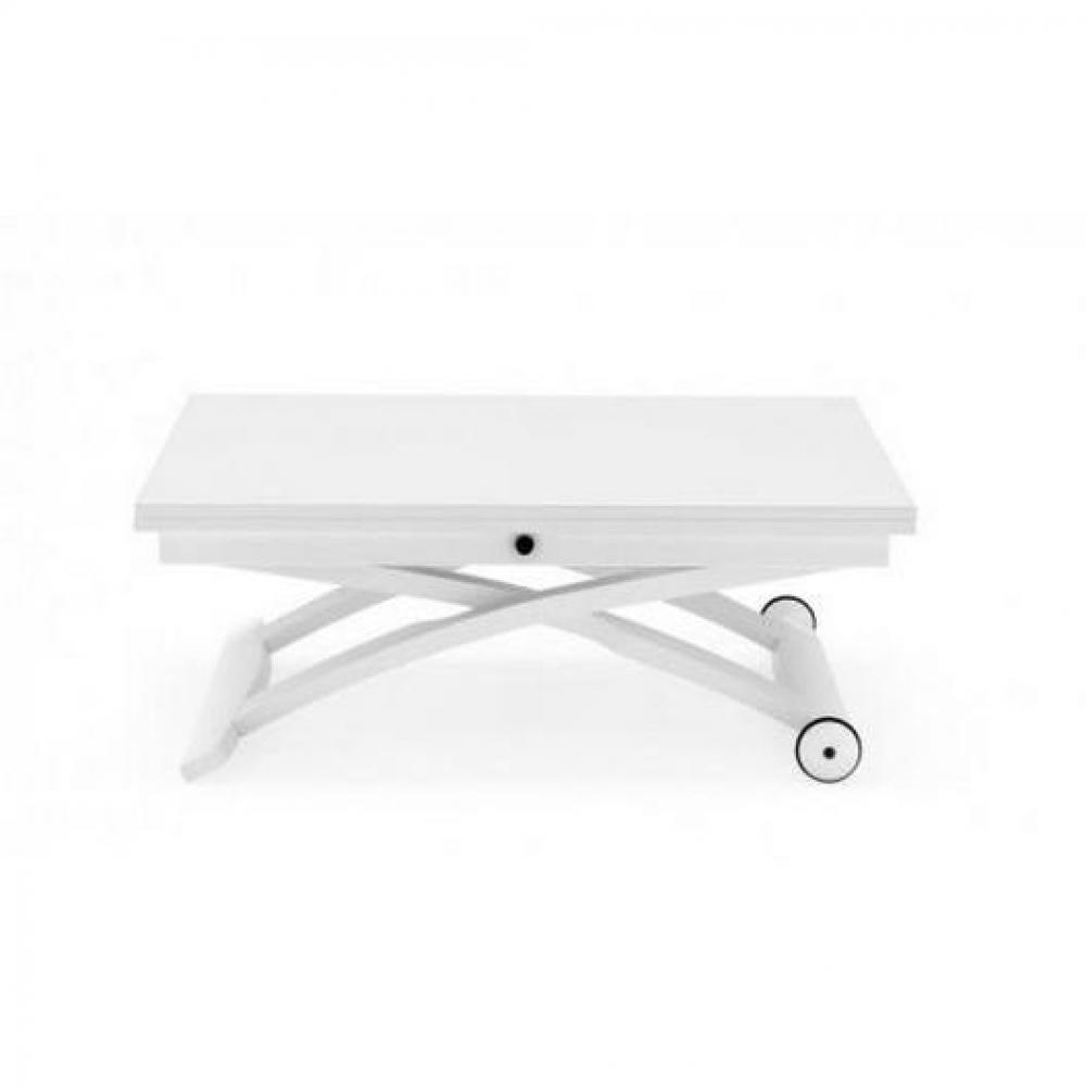 table basse relevable extensible italienne mascotte blanche