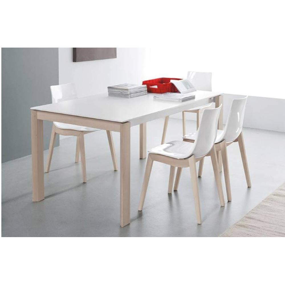table repas bio tech extensible blanche 310 cm