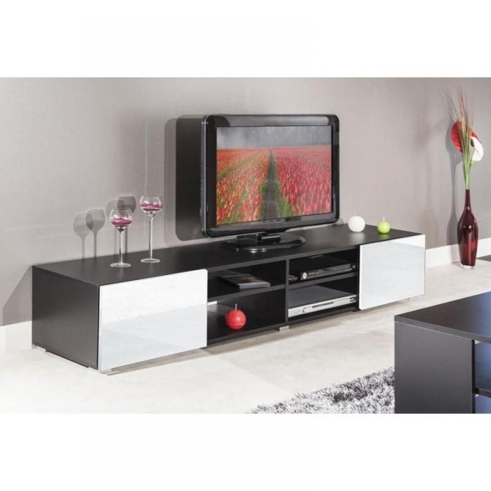 Meuble laqu blanc conforama simple bureau with meuble laqu blanc conforama meuble blanc laqu - Meuble tv blanc conforama ...