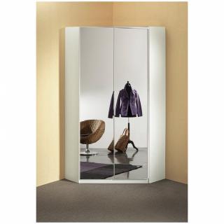 armoire d angle dressing gaby 2 portes miroir 95 x 95 cm