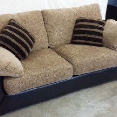 Leather And Chenille Sofa West Elm Dunham Black 3 Seater Inside Out