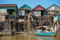 Stilt houses on Tonle Sap