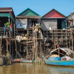 Stilt houses on Tonle Sap