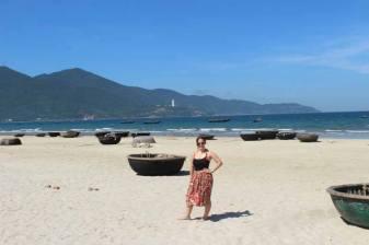 Sunning myself amongst the basket boats of Danang