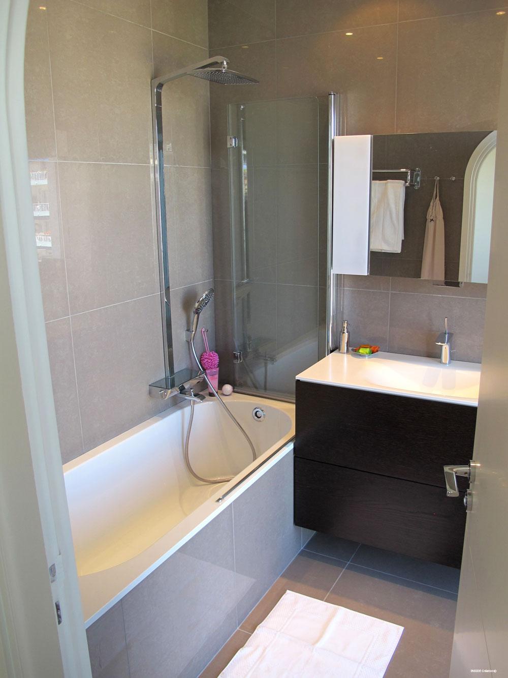 Salle de bain  baignoire en quaryl  INSIDE Cration Nice