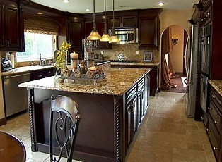 kitchen ceilings antiqued cabinets inside whitney houston's rehab house | edition