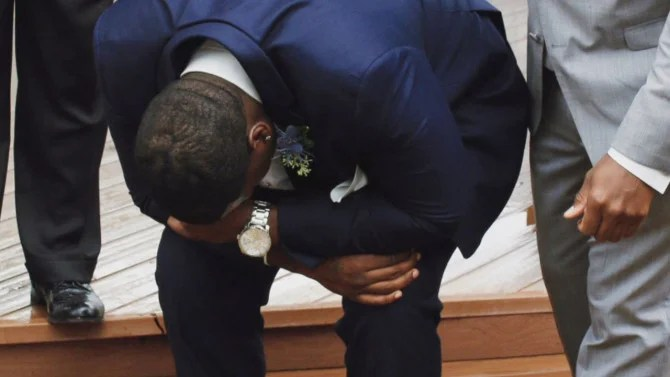 Groom Reduced to Tears as He Sees Bride Walking Down the Aisle in Her Wedding Dress  Inside Edition
