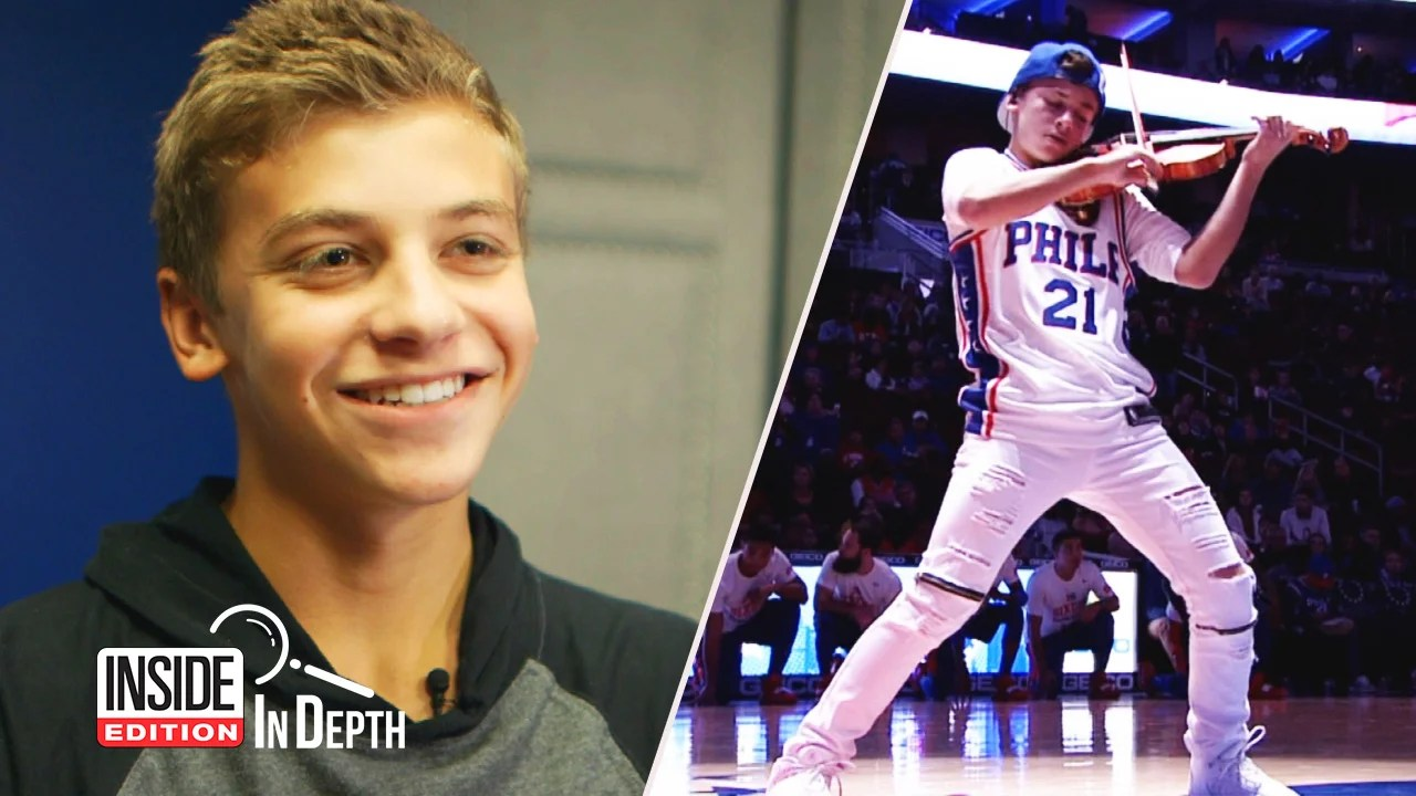 Giovanni Mazza Chicago Teens Hip Hop Violin Routines Wow NBA Crowds Inside Edition