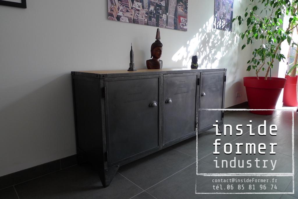 Meubles industriels Nantes  Meubles de style industriel sur mesure acier bois loft vintage