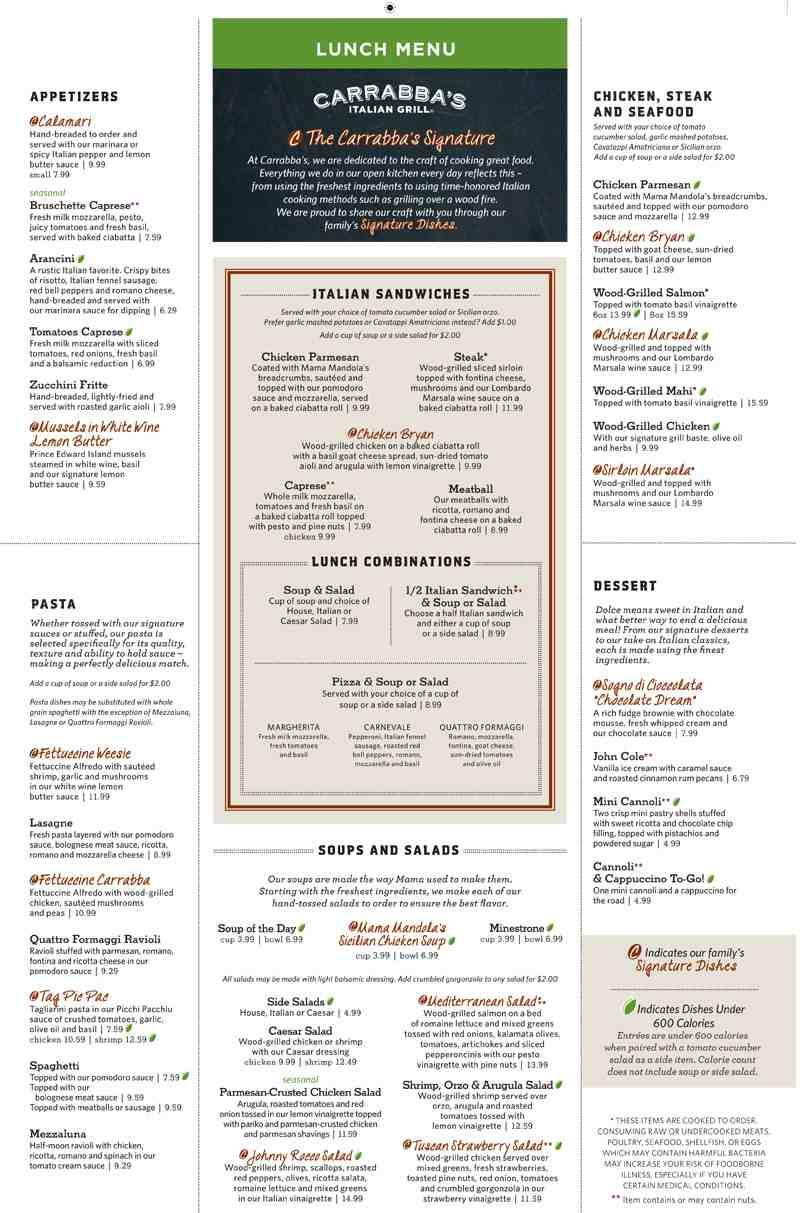 Carrabba'S Nutrition Facts | Blog Dandk