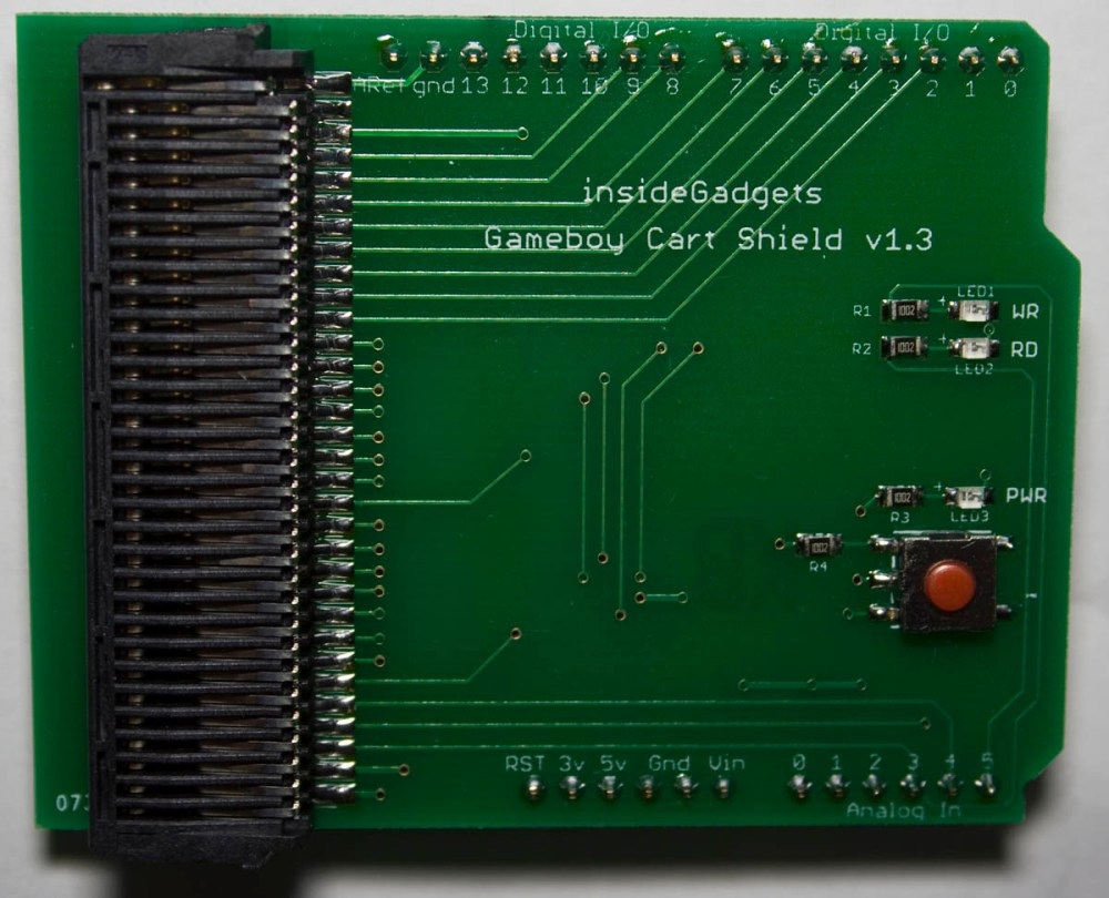 medium resolution of gameboy cart shield for arduino 19 assembled allows you to dump gb gbc carts and save load game saves