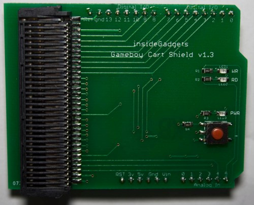small resolution of gameboy cart shield for arduino 19 assembled allows you to dump gb gbc carts and save load game saves