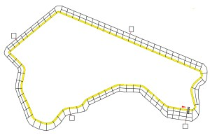 An early outline of one of the Grand Prix tracks