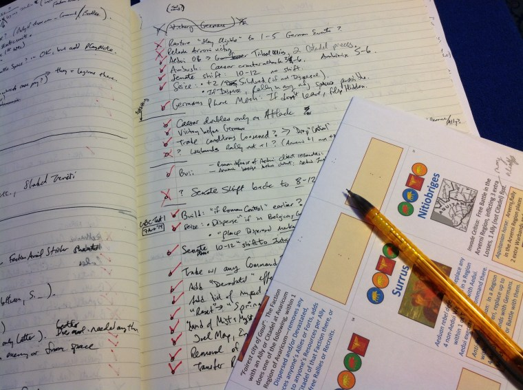 Design detritus: Our notebook—pages of decisions made and re-made…