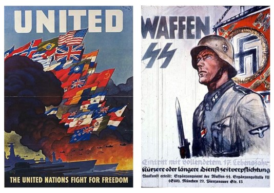 Allied Powers and Nazi Germany WWII Posters