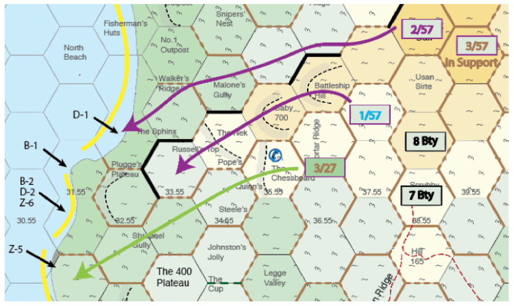 Map 2 – Ottoman attack orders