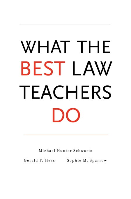 New book emphasizes role of pedagogy in law schools