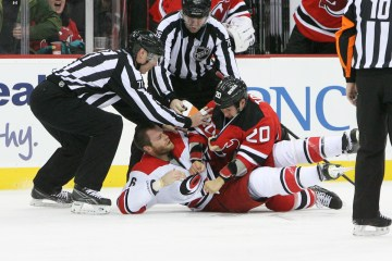 Tootoo takes Gleason to the ice
